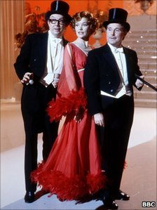 Glenda Jackson with Morecambe and Wise