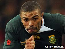 Bryan Habana in action against Wales