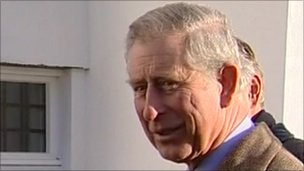 Prince Charles speaking about Prince William's marriage plans on a visit to Dorset