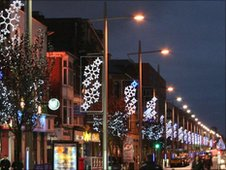 Christmas lights in Middlesbrough