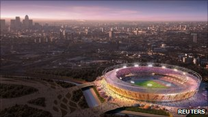 London Olympic stadium mock-up