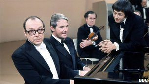 Morecambe and Wise with Andre Previn