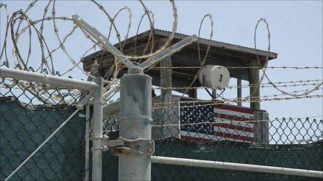 A guard tower at Guantanamo Bay U.S. Naval Base, in Cuba