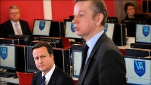Michael Gove and David Cameron