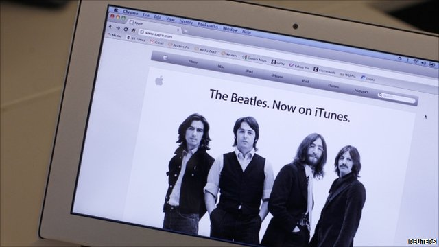 Beatles songs available on iTunes