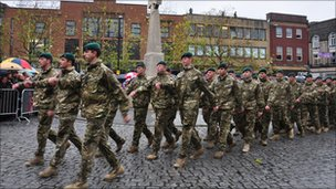 40 Commando homecoming parade