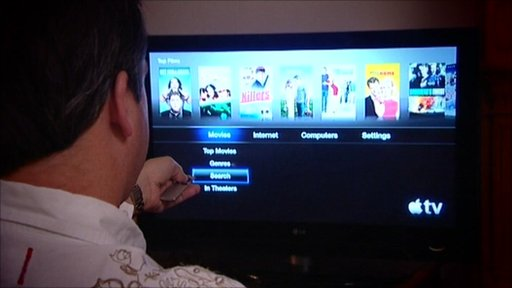 Richard Taylor looking at Apple TV