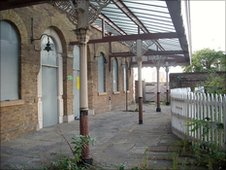 The exterior of North Woolwich Old Station, East Ham