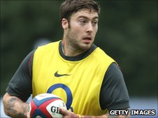 Matt Banahan trains with England on Wednesday