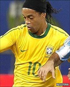 Ronaldinho (left) and Javier Mascherano