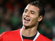 Morocco's Marouane Chamakh celebrates after scoring against Northern Ireland