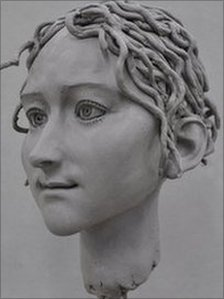 Life-sized model of Godiva's head
