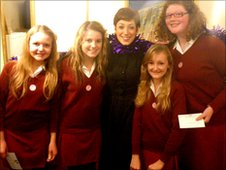 The School Reporters from The Red Maid's School with Connie Fisher