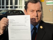 Mr King with the school closure letter
