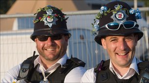 Police at Glastonbury
