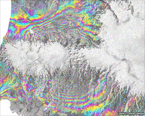 Insar inteferogram of Eyjafjallajokull (Infoterra)