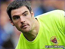 Blackpool keeper Matt Gilks