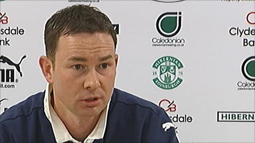 Hibernian assistant manager Derek Adams
