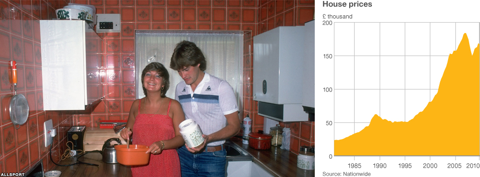 Footballer Glenn Hoddle with his wife at home