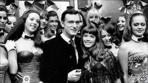 Hugh Hefner and then girlfriend Barbara Benton in 1969