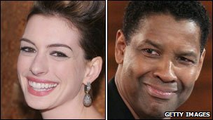 Anne Hathaway and Denzel Washington