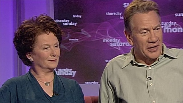 Hazel Blears and Michael Portillo