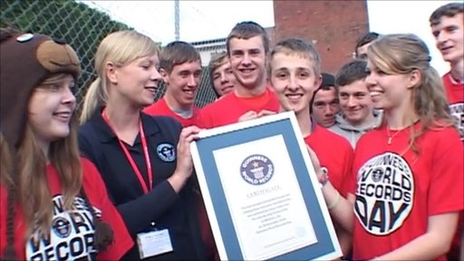 Calne schoolchildren make new world record