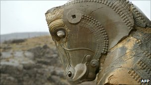 Horse sculpture in Persepolis, AFP/Getty