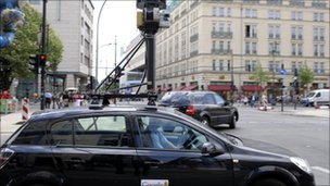 A Street View car in Berlin