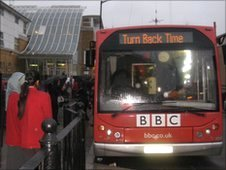BBC Bus in Whitechapel