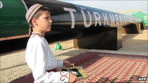 Launch of Turkmenistan east-west pipeline, 31 May 10