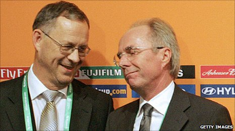 Lars Lagerback and Sven-Goran Eriksson in 2005