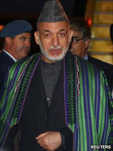 President Karzai arriving in Lisbon for the Nato summit