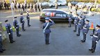 The village of Y Felinheli came to a stop for the funeral which was conducted with full military honours