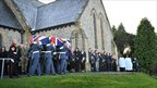 Over 400 mourners attended the funeral at St Mary's Church with many standing outside