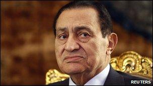 Egypt President Hosni Mubarak