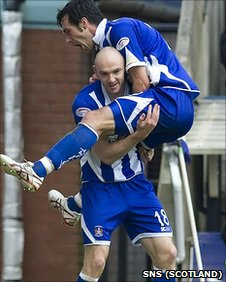 Conor Sammon scored twice for Kilmarnock but ended up on the losing side