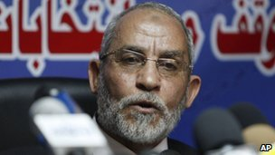 Leader of Egypt's Muslim Brotherhood, Mohammed Badie