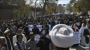 Demonstration in Kabul 10 November