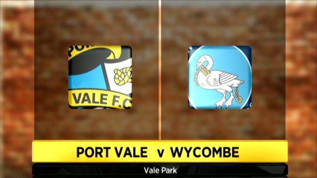 Port Vale 2 - 1 Wycombe