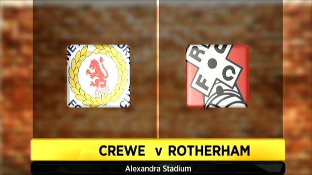 Crewe 0-1 Rotherham