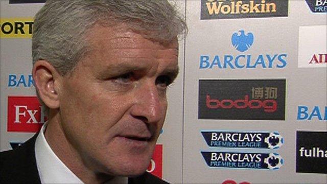 Fulham manager Mark Hughes