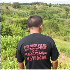 A journalist visits the site of the Maguindanao massacre, November 2009