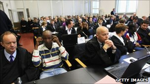 Opening of a trial in Hamburg of 10 suspected Somali pirates (22 November 2010)