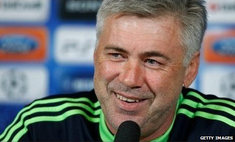 Carlo Ancelotti was in jovial mood at Monday's news conference