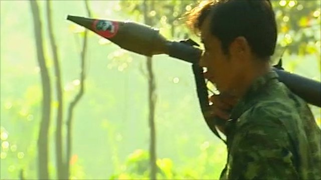 Burmese rebel