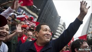Venezuelan President Hugo Chavez celebrates students&#039; day in Caracas. Photo: 21 November 2010
