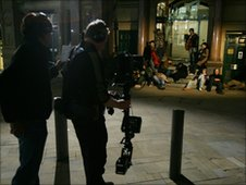 Filming the Passion in Manchester