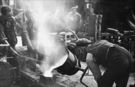 Steelworkers on Teesside