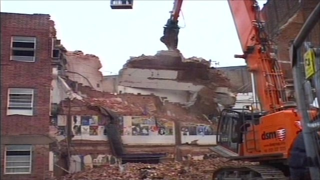 Demolition of exterior wall